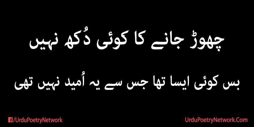chor jany ka koi dukh nahi