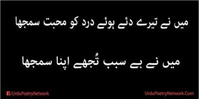 mein ne be sabab tujhy apna samjha